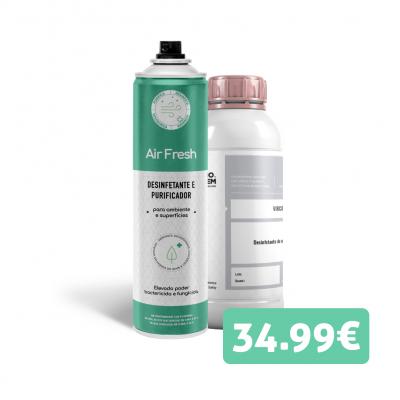 Kit desinfetação - Purificador de ar 750ml + Desinfetante de encomendas 1L