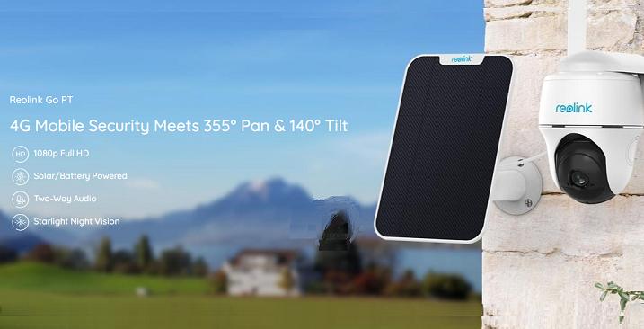 Reolink GO-PT  - Câmera IP 1080p ligada à rede 4G/3G. Faz PAN & TILT