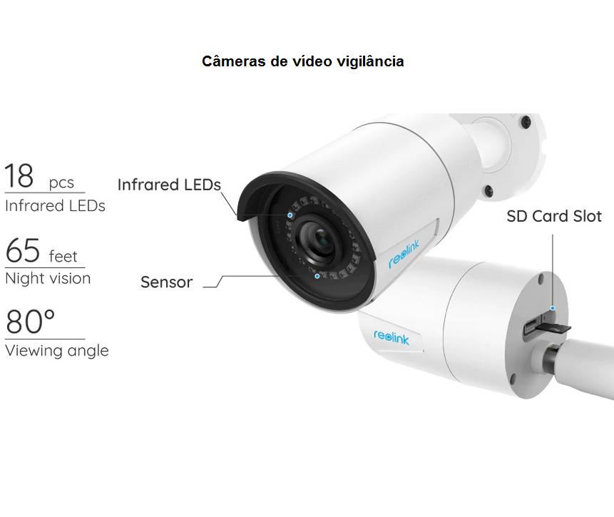 Reolink RLC-410 - 5MP Vídeo super HD - Câmera de vigilância IP e PoE