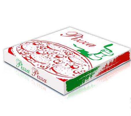 Caixa de Cartão Pizza decorada 26x26x4,5