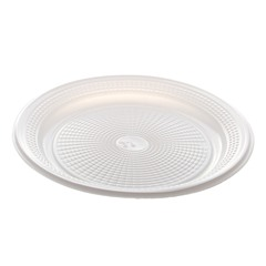 Prato Plástico Descartável Branco com 17 cm