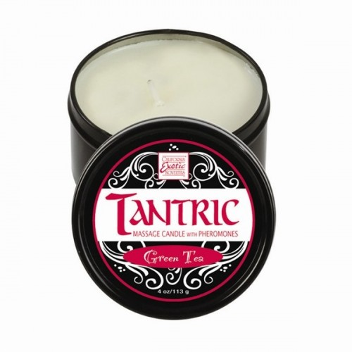TANTRIC SOY MASSAGE CANDLE WITH PHEROMONES GREEN TEA