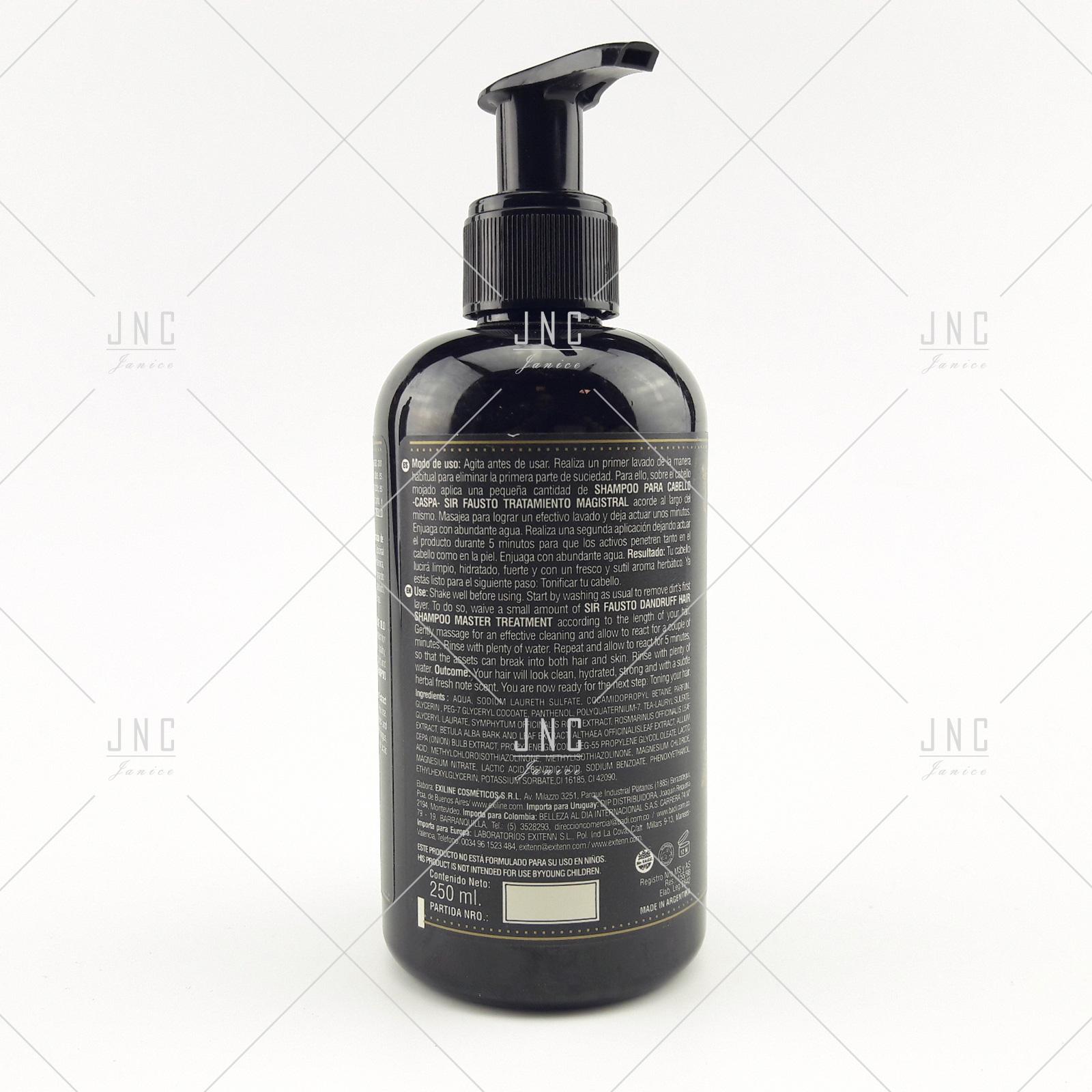Shampoo Anti Caspa - SIR FAUSTO 250ml   REF.SIR0021