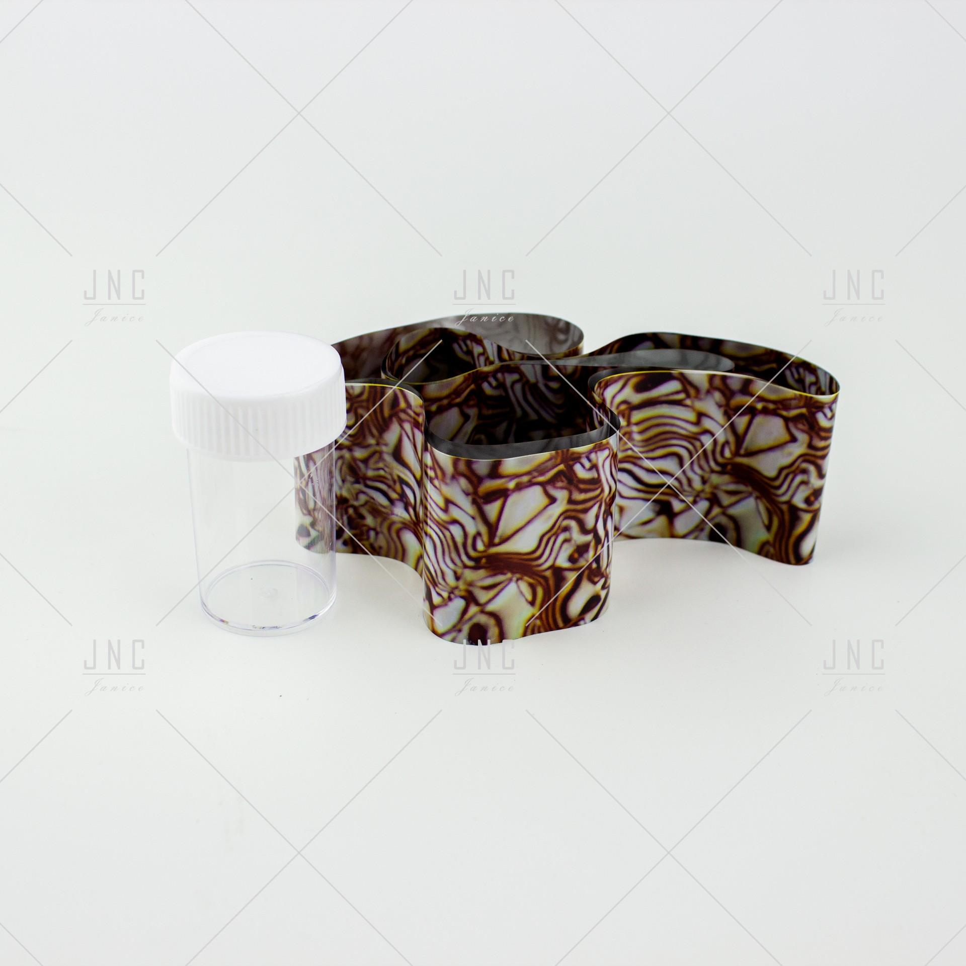 Foil Nail Art - Castanho | Ref.861337