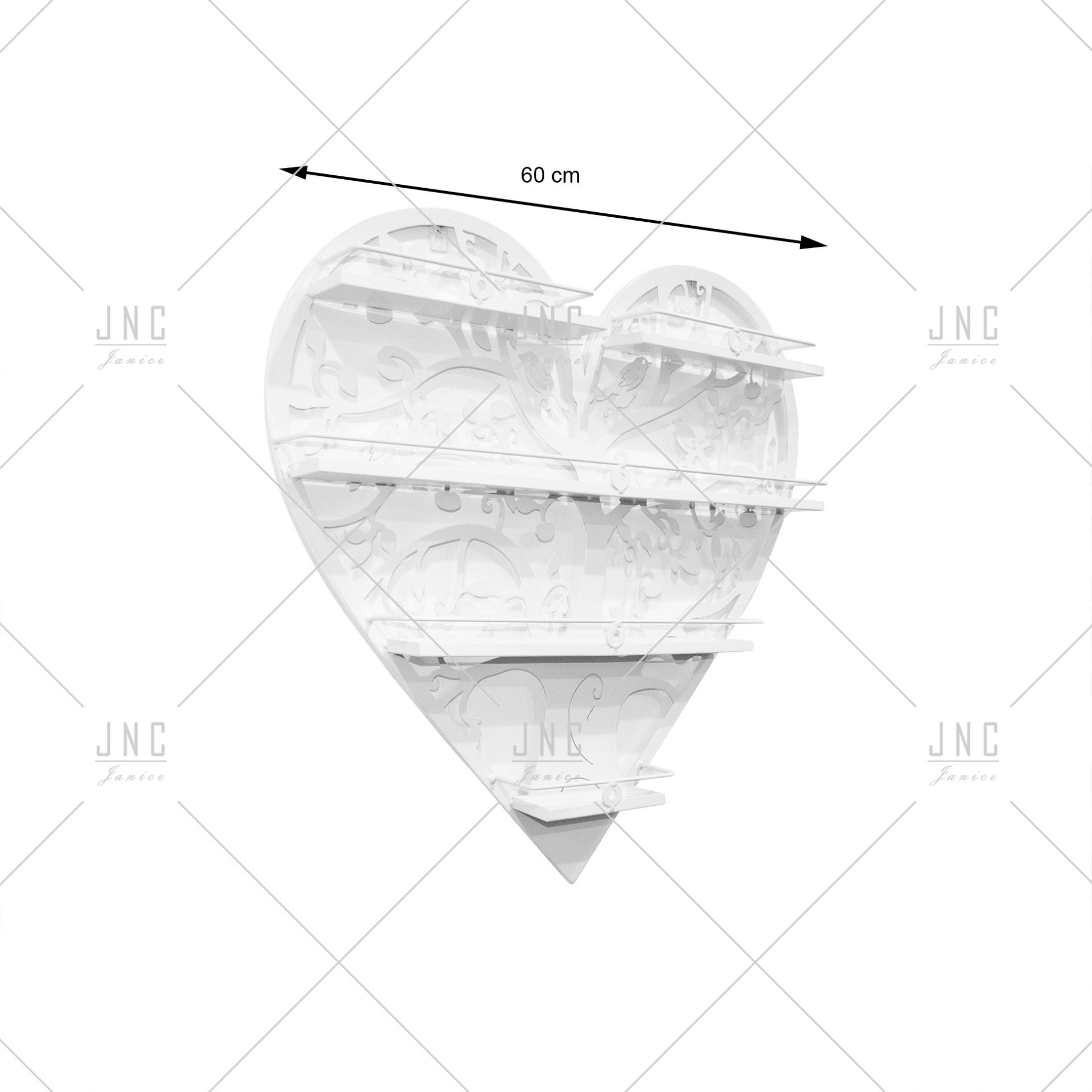 Estante Coração Branco 60cm   Ref.788078B