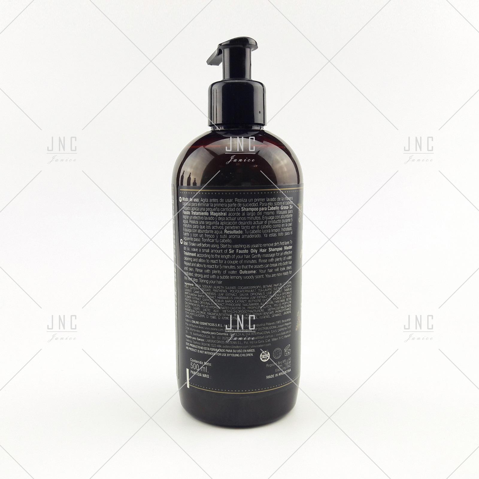 Shampoo Cabelos Oleosos - SIR FAUSTO 500ml | REF.SIR0010