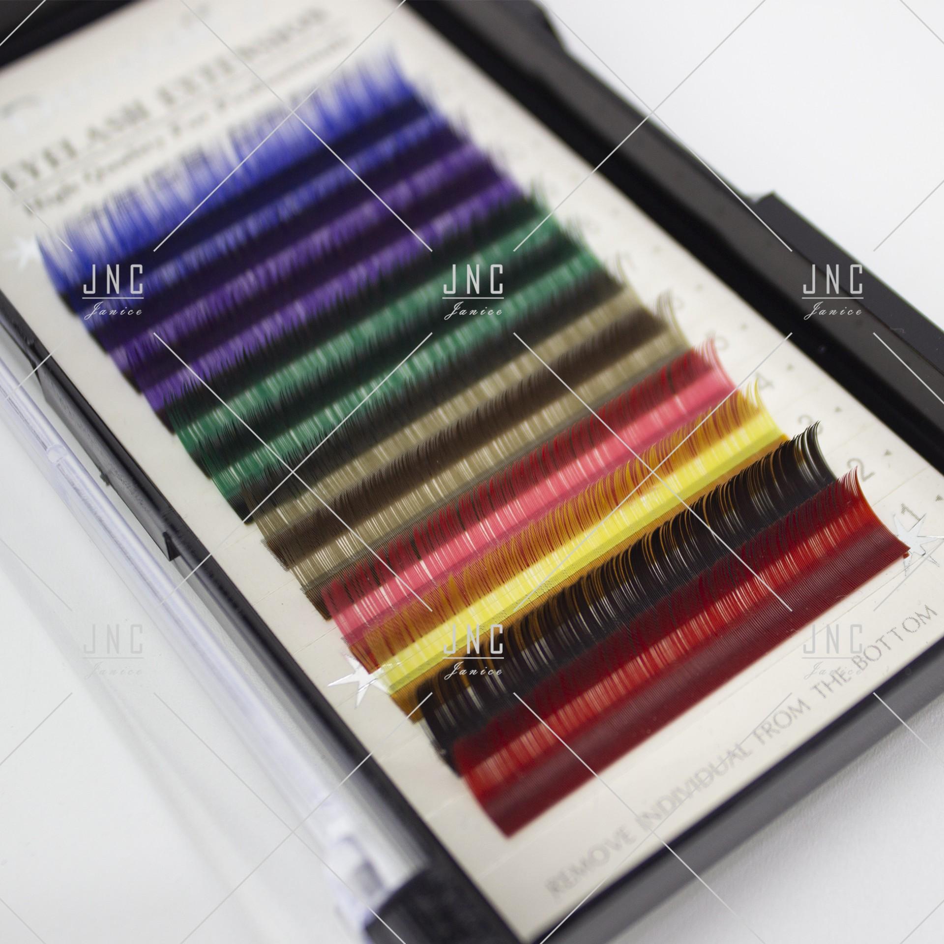 Extensão de Pestanas Coloridas Dovetail - 10mm - 0.15D | Ref.862517