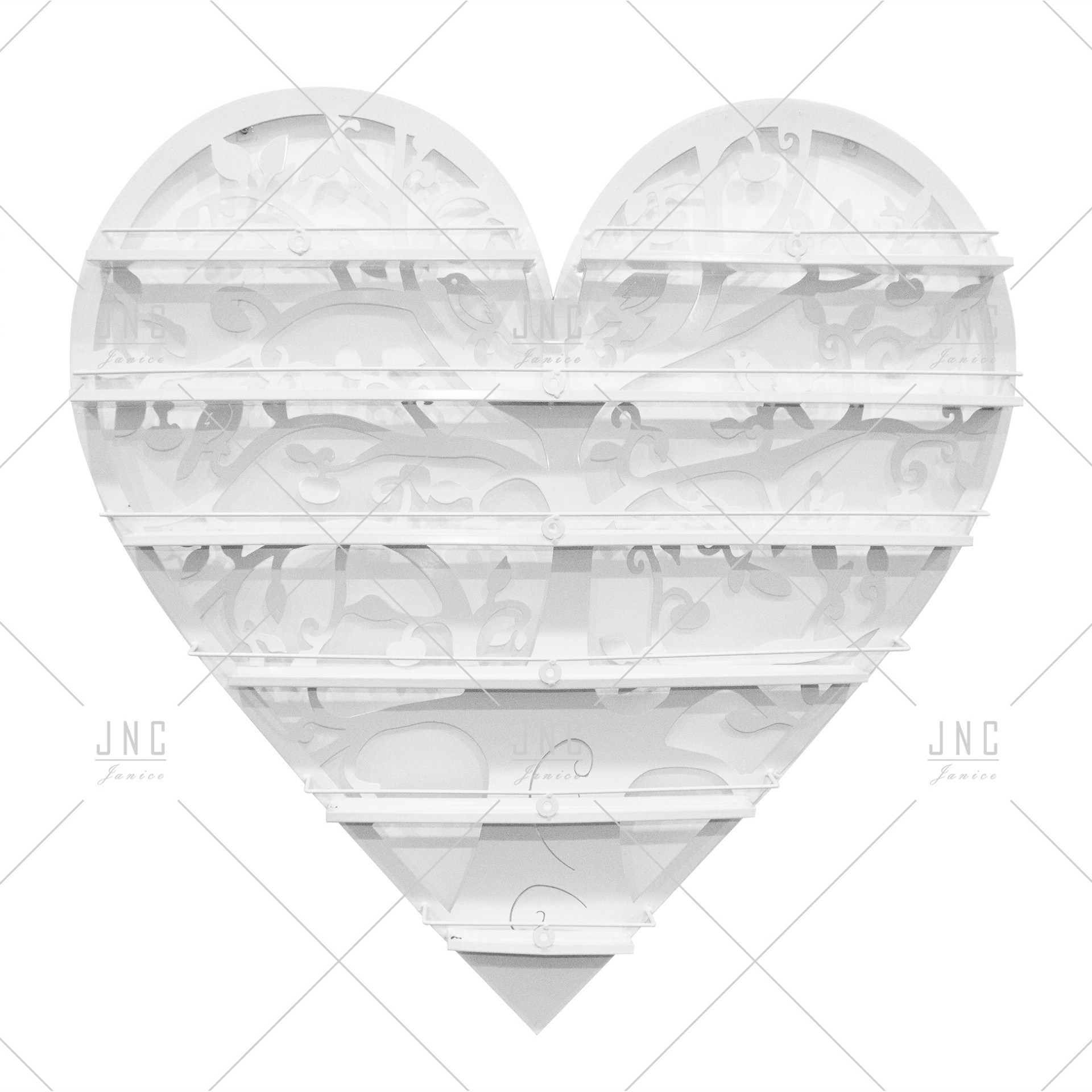 Estante Coração Branco 90cm | Ref.788078B