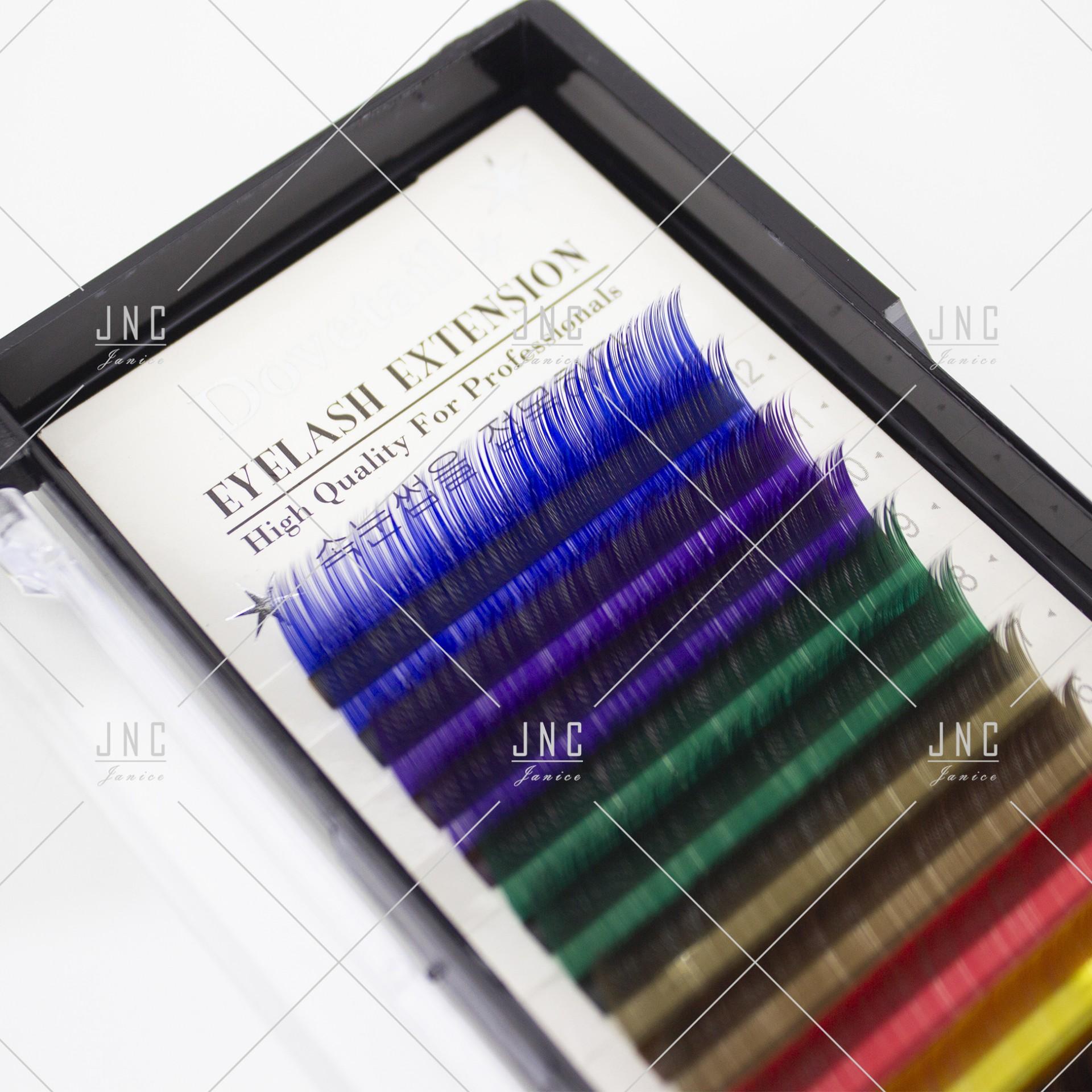 Extensão de Pestanas Coloridas Dovetail - 14mm - 0.15D   Ref.862519