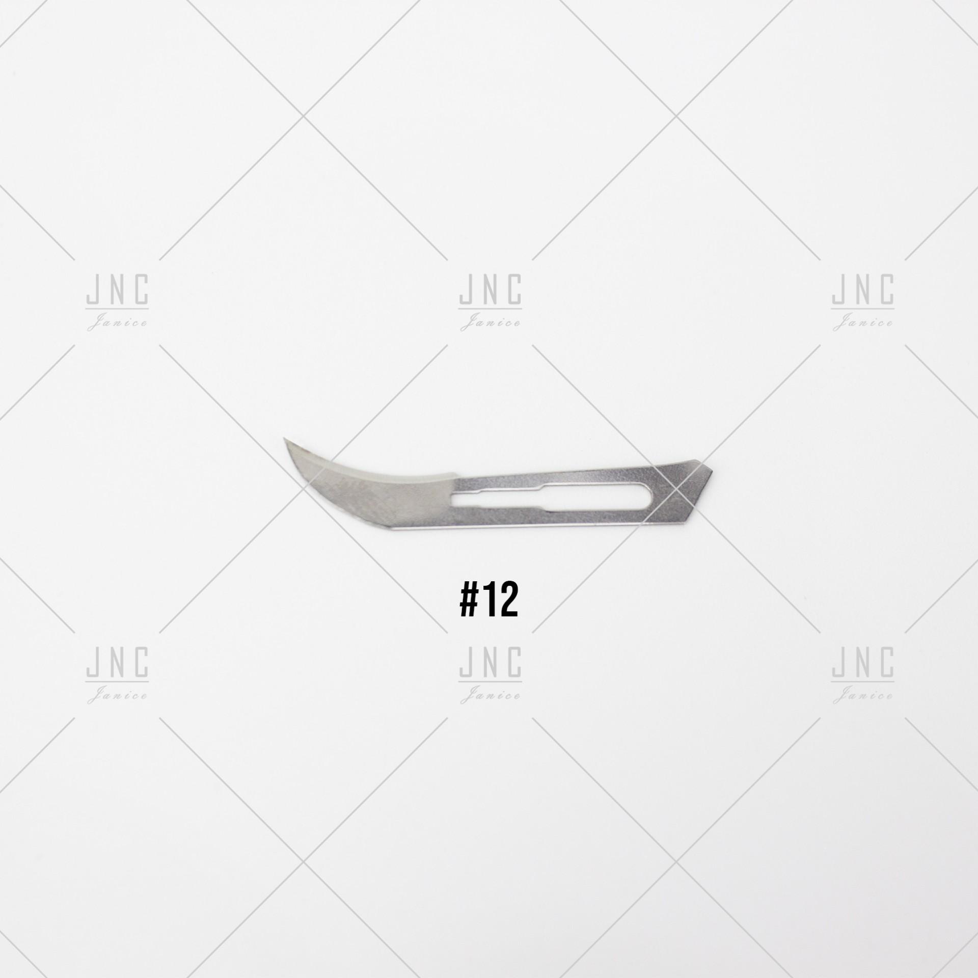 Lâmina #12 para Faca Cirúrgica   LFC12