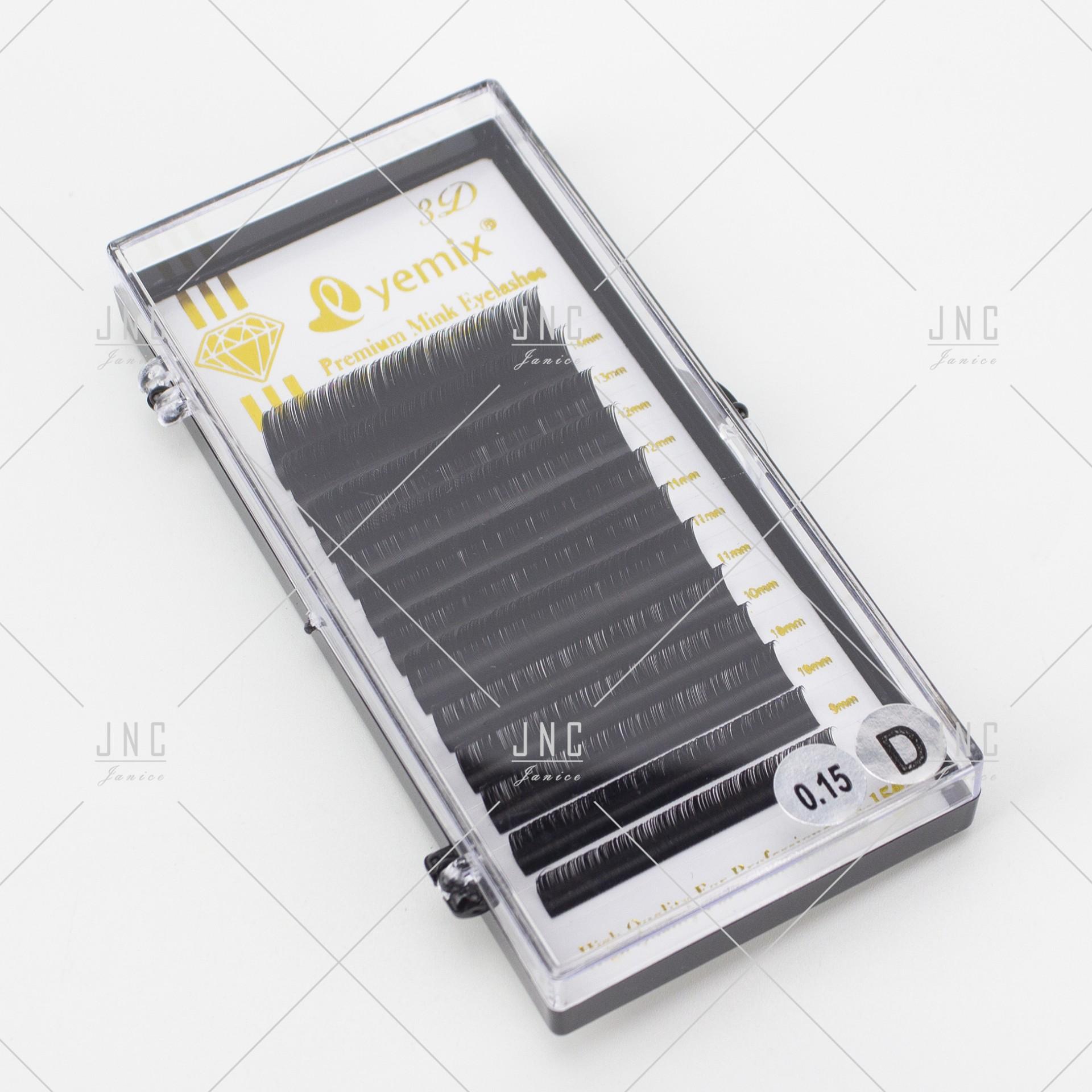 Extensão de Pestanas Eyemix - Mist 8mm a 14mm - 0.15D   Ref.862467