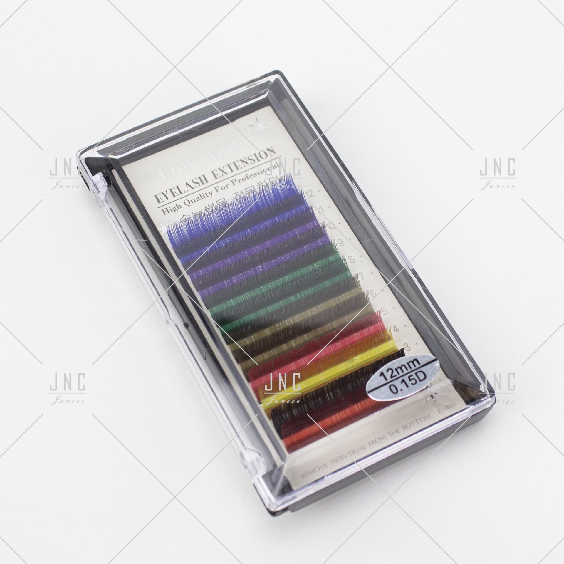 Extensão de Pestanas Coloridas Dovetail - 12mm - 0.15D | Ref.862518