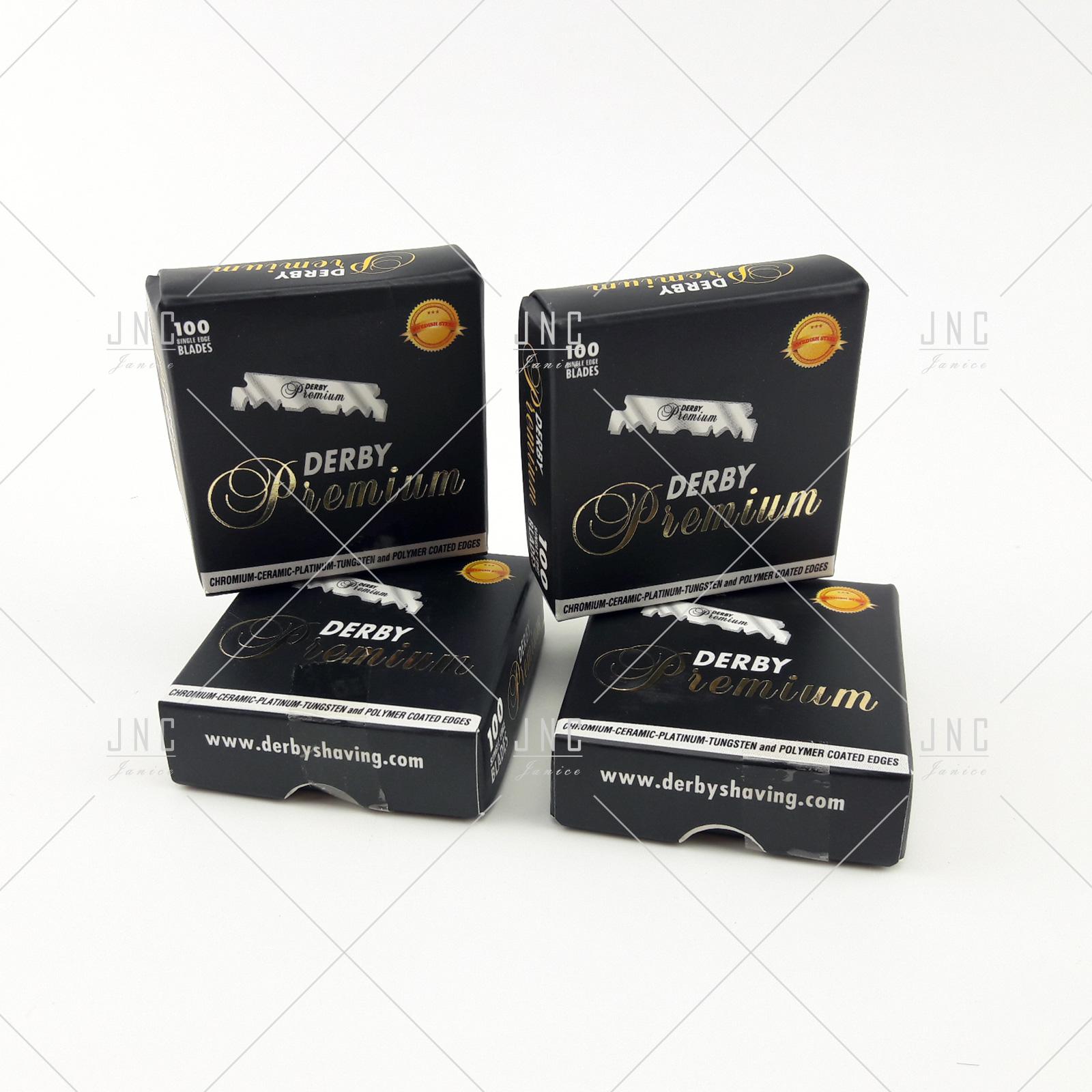 Lâminas Premium Derby Partidas 100u  | REF.KD116-PRE
