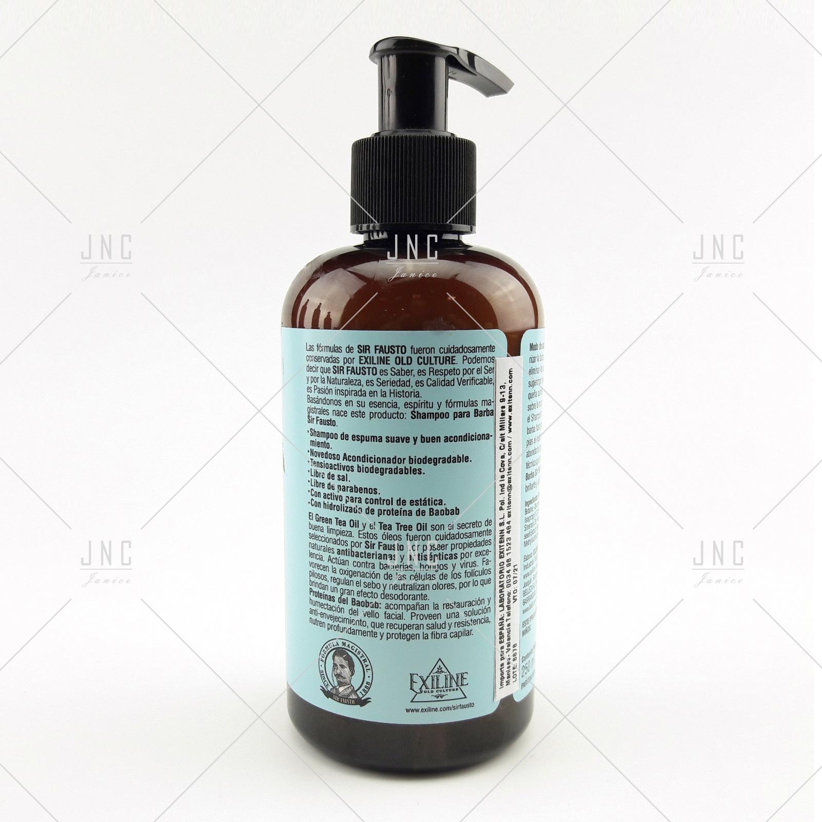Shampoo para Barba - SIR FAUSTO 250ml   REF.SIR00020