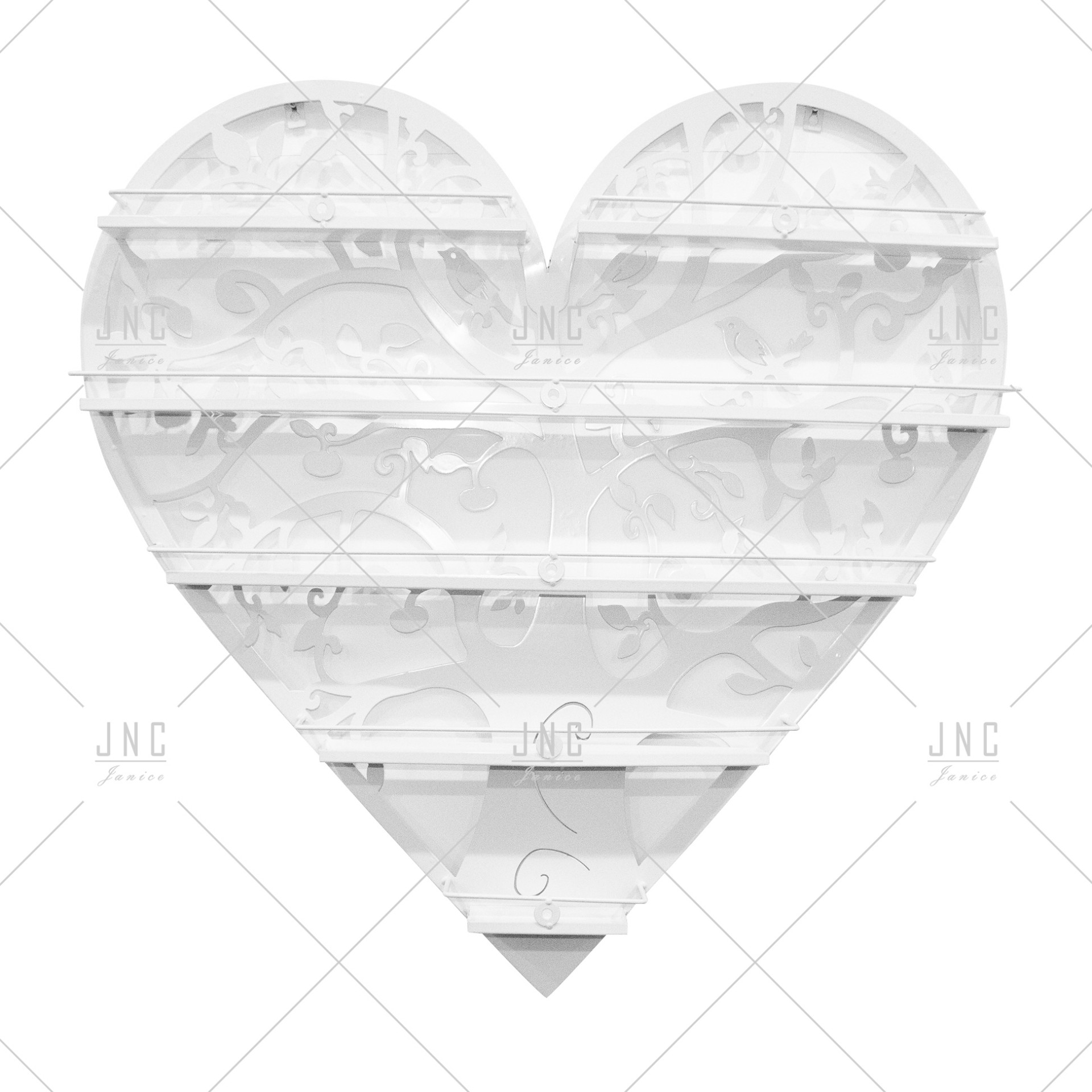 Estante Coração Branco 80cm | Ref.788078B