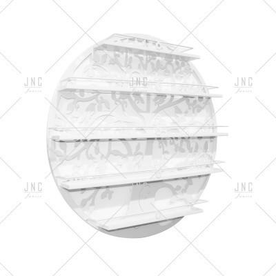Estante Círculo Branco 60cm | Ref.788081B