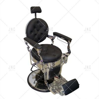 Cadeira de Barbeiro - Negro/Prata | Ref.SPB010