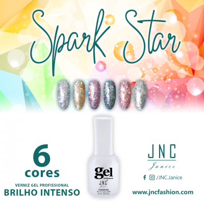 Kit (6 unidades) Verniz Gel Spark Star
