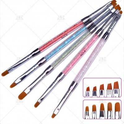 Pincel para Nails Art - Dupla Cabeça (Chanfrado e Sombreador Redondo)