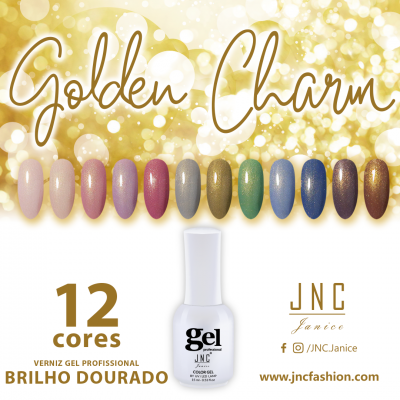 Kit (12 unidades) Verniz Gel Golden Charm