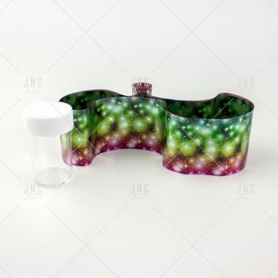 Foil Nail Art - Verde/Vermelho | Ref.861335