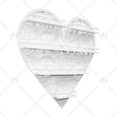 Estante Coração Branco 60cm | Ref.788078B