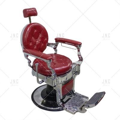 Cadeira de Barbeiro - Vermelho/Prata | Ref.SPB010