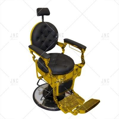 Cadeira de Barbeiro - Negro/Dourado | Ref.SPB010