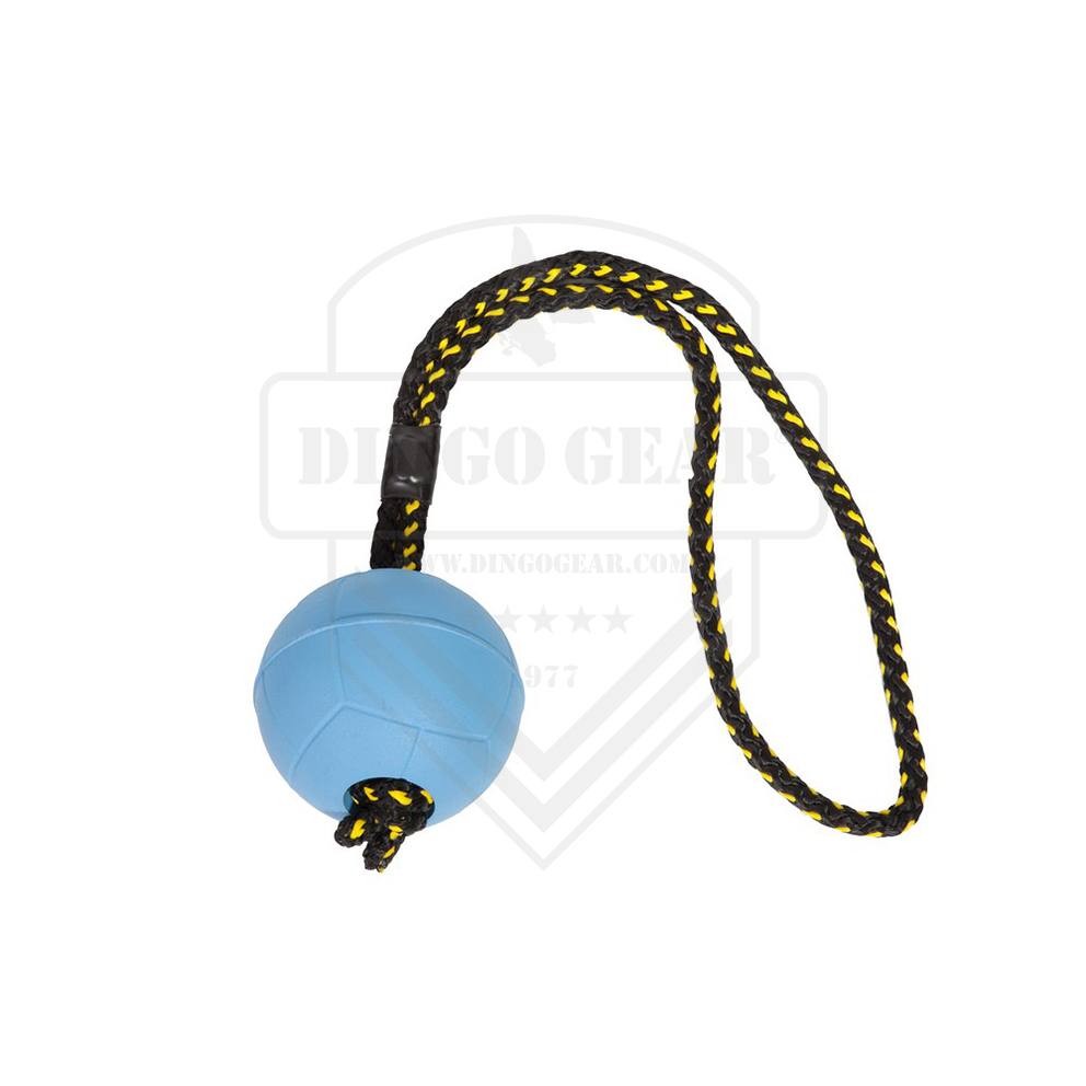 Bola de Borracha com imã e uma pega feito de corda DINGO GEAR