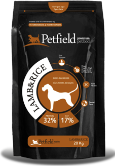 Petfield Premium Pet Food Lamb & Rice