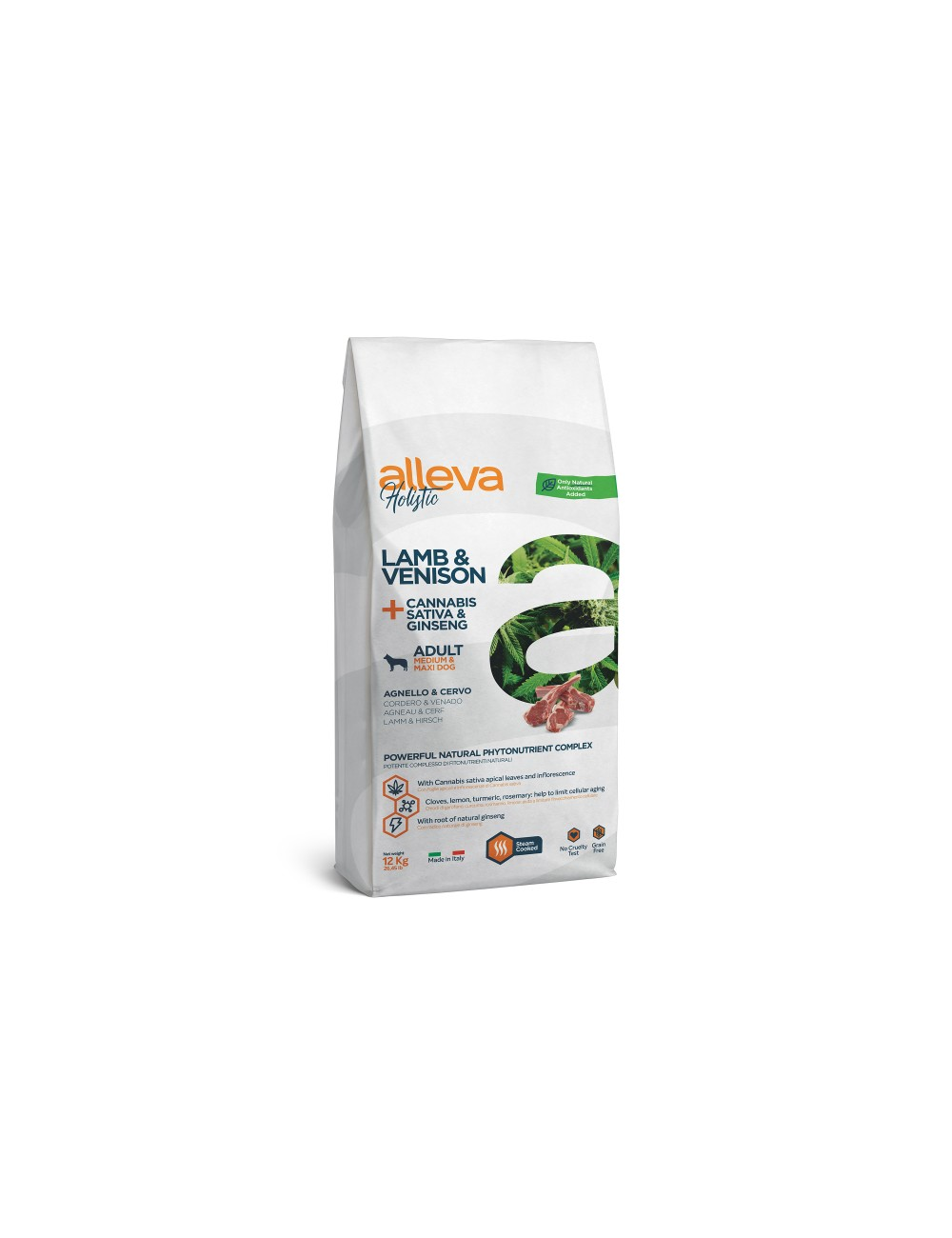 Holistic Cordeiro e Veado + Cannabis Sativa & Ginseng Adult Medium/Maxi