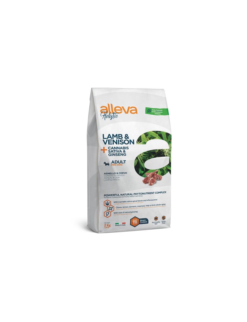Holistic Cordeiro e Veado + Cannabis Sativa & Ginseng Adult Mini 2kg