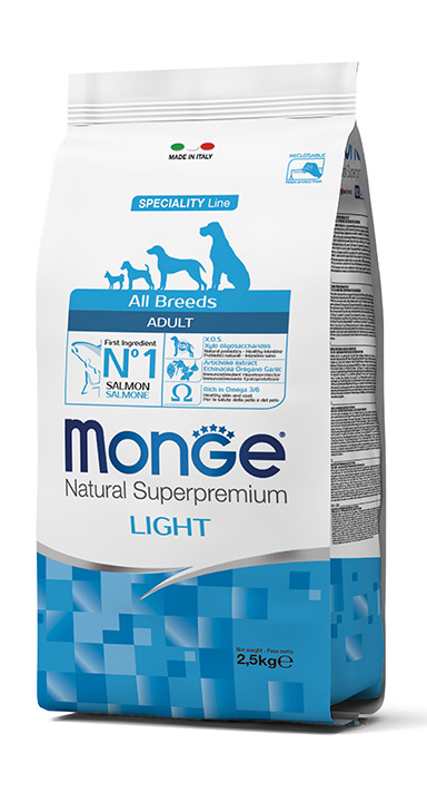 Monge Natural Super Premium Light Salmon & Rice 12kg