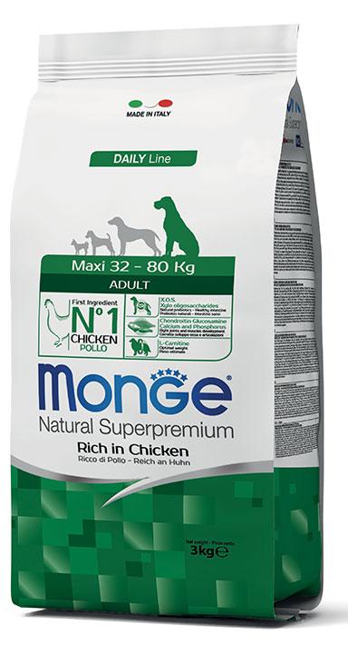 Monge Natural Super Premium Daily Line Maxi Adult 12kg