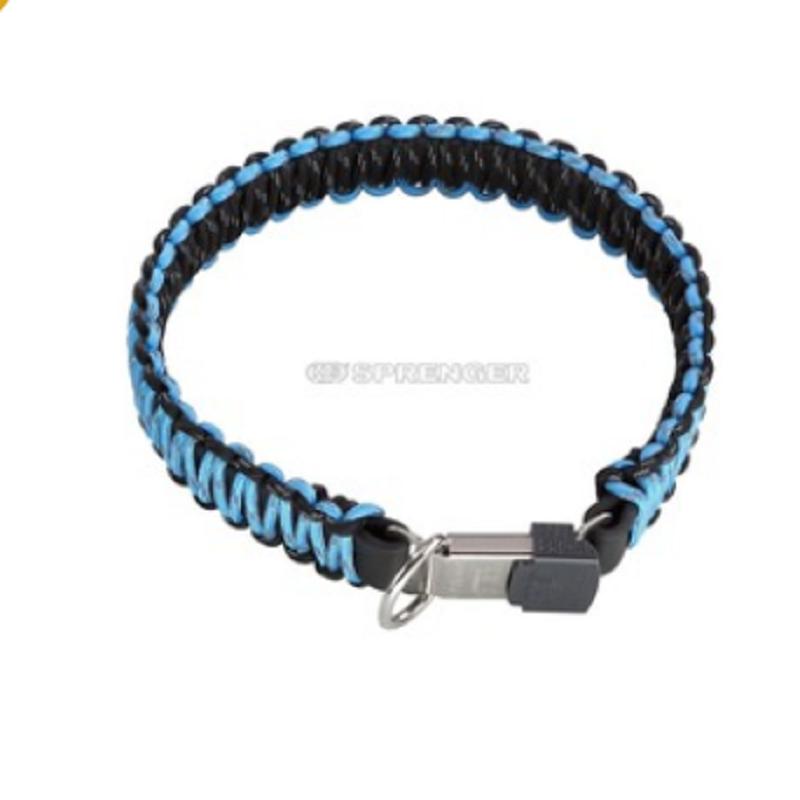 Coleira De Paracord Azul C/ Fecho Cliclock HS SPRENGER