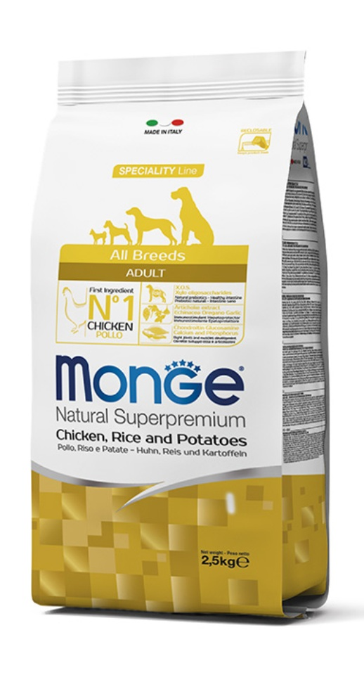 Monge Natural Super Premium Chicken, Rice & Potatoes 12kg