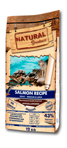 NATURAL GREATNESS Super Premium Salmon Recipe Adult -Medium & Large