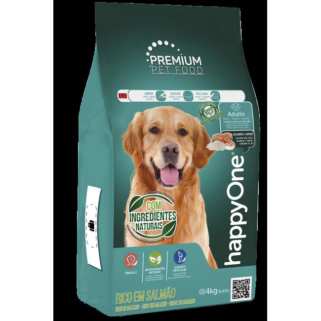HappyOne Premium Cão Adulto com Salmão e Arroz