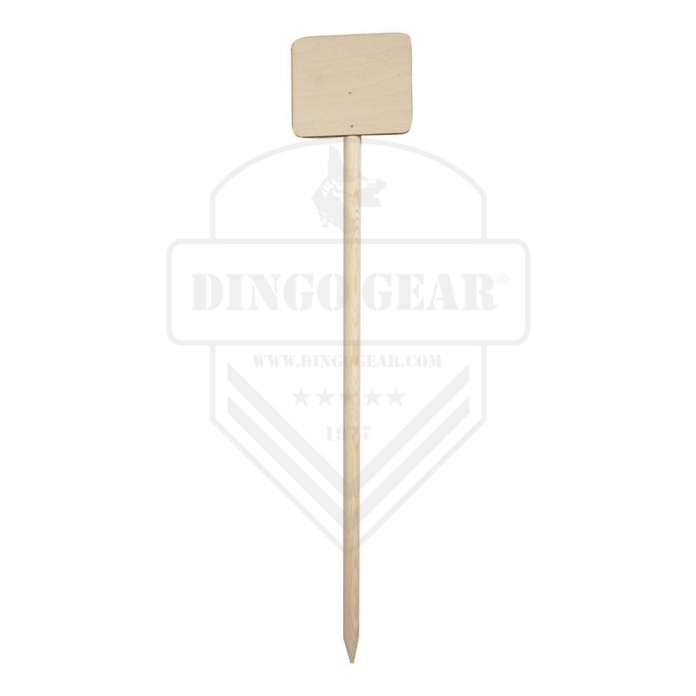 Marcador de madeira com placa retangular DINGO GEAR
