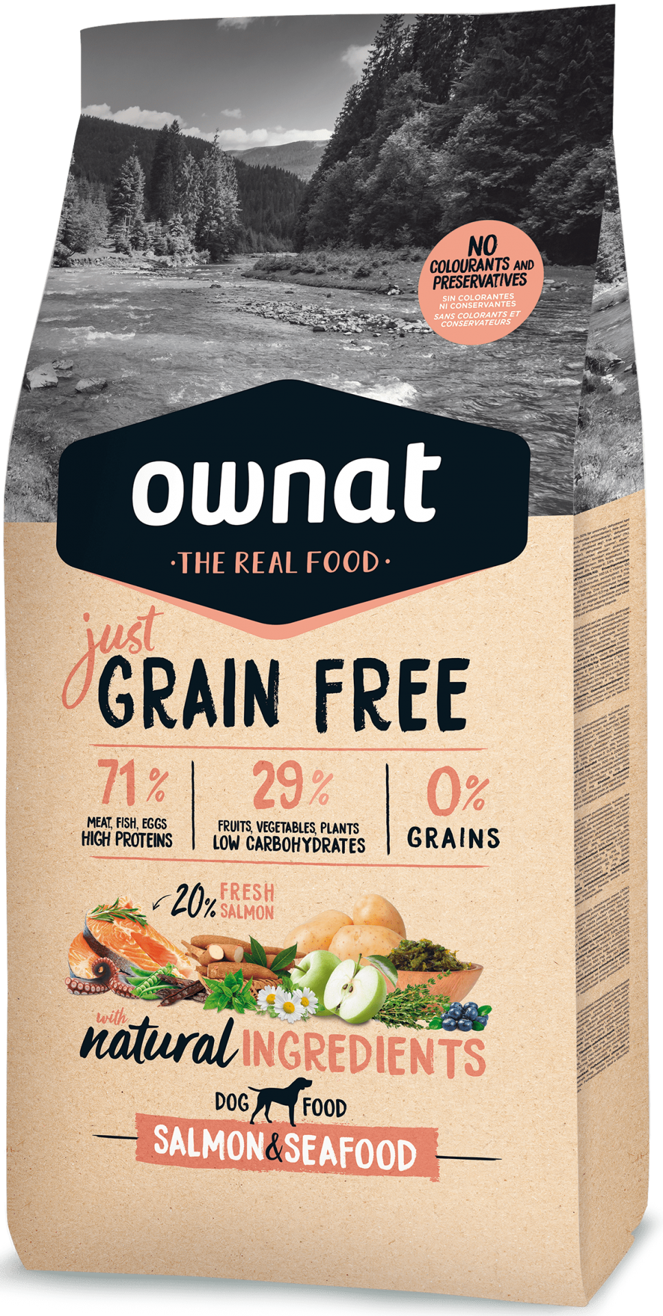 Ownat Grain Free Adult Salmon & Seafood