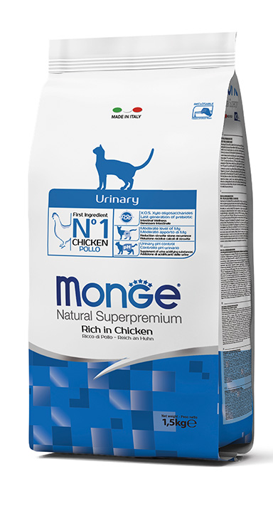 Monge Natural Super Premium Dry Cat Food Urinary Rich in Chicken