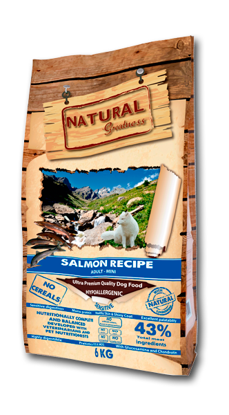 NATURAL GREATNESS Super Premium Salmon Recipe Adult-Mini