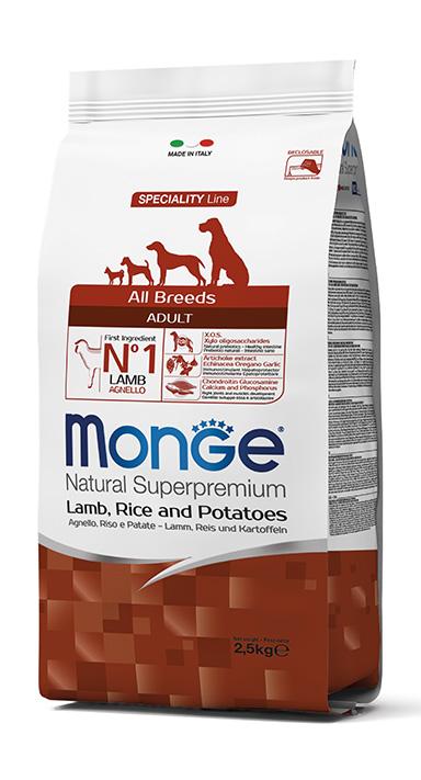 Monge Natural Super Premium Mini Lamb, Rice & Potatoes Adult 2,5kg