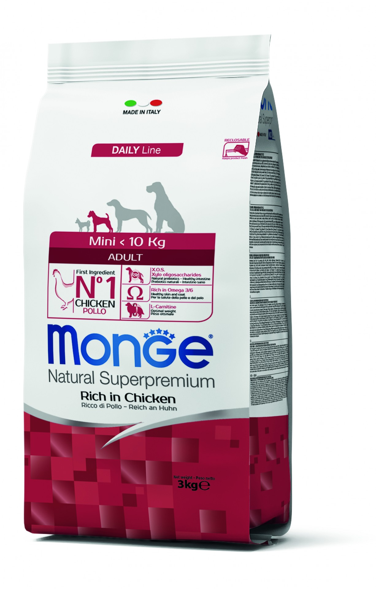 MONGE Superpremium MINI Adulto 3kg
