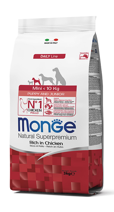 Monge Natural Super Premium Mini Puppy & Junior 3Kg