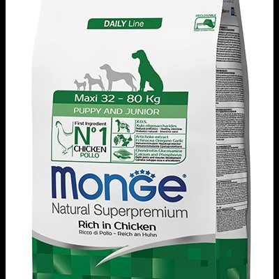 Monge Natural Super Premium Daily Line Maxi Puppy & Junior 12kg