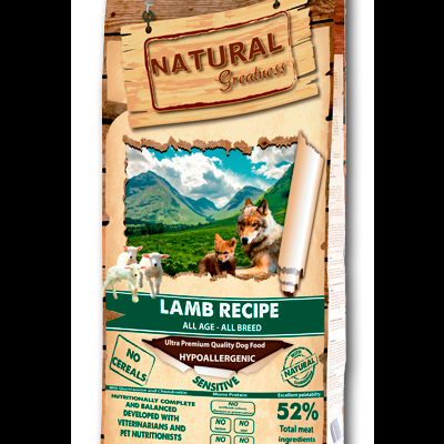 NATURAL GREATNESS Super Premium Lamb Recipe
