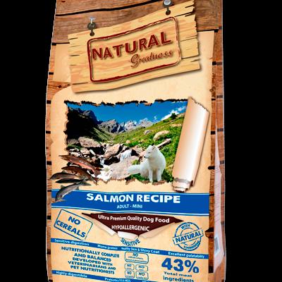 NATURAL GREATNESS Super Premium Salmon Recipe Adult-Mini