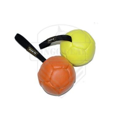 Bola de couro ecológico 13cm com pega DINGO GEAR