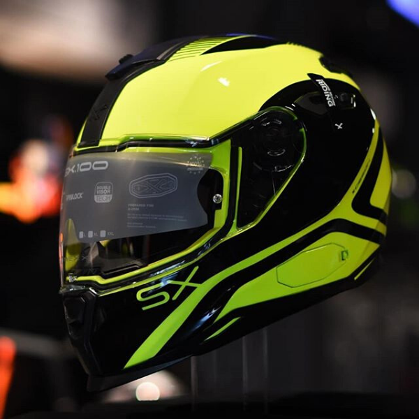 Capacete Nexx SX.100 Pop Up Yellow/Black